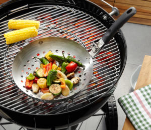 Barbecue wok m. aftageligt greb (G89250)